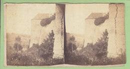 NOGENT LE ROTROU Vers 1860 - 1870 : Le Château. Photo Stéréoscopique. 2 Scans. - Photos Stéréoscopiques
