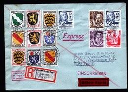 A5726) Franz Zone R-Express-Brief Friedrichshafen-Fischbach 24.2.48 - Französische Zone