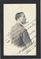 Autographe Signature à L'encre Sur Carte Postale Photo MONVAL Signature Maçonnique - Autographes
