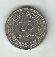 El Salvador 25 Centavos 1970. KM#139 - Salvador