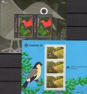 CEPT Naturschutz 1986 Portugal-Acoren Blocks 7+25 ** 15€ Vogel Fink Bloque EUROPA S/s Blocs M/s Birds Sheets Acores - Azores