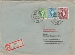 Allemagne Bizone Lettre Recommandée Unna 1946 - Zone Anglo-Américaine
