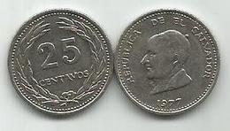 El Salvador 25 Centavos 1977. KM#139 - Salvador