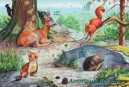 Frankreich MiNr. 3521-24 = Block 25 - Tiere Des Waldes - Postfrisch - Wild