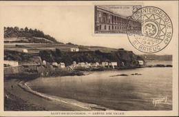 Carte Postale Saint Brieuc Cesson Grève Valais CAD Illustré Congrès Interceltique 1947 26 27 Juillet St Brieuc Celte - Storia Postale