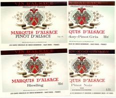 Etiket Etiquette - Vin - Wijn - Marquis D' Alsace - Bennwihr - Serie 4 Pièces - Etiquettes