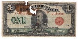 Canada  :   Billet  1  Dollar  1923... - Canada