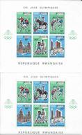 RWANDA - 1968 - JEUX OLYMPIQUES DE MEXICO - BLOCS YVERT N° 11 + 11a (NON DENTELE) + 13 à 15 ** MNH - COTE = 117 EUR. - Rwanda
