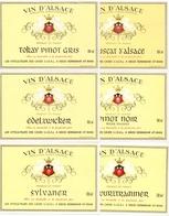 Etiket Etiquette - Vin - Wijn - D' Alsace - Bennwihr - Serie 6 Pièces - Etiquettes