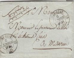 LETTRE . CANTAL. 6 MARS 1831. T12 MAURIAC LIEU-DIT INCONNU POUR MAURIAC. EN FRANCHISE POUR LE PROCUREUR - 1801-1848: Vorläufer XIX