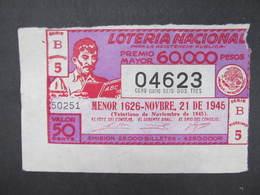 LOS Lotterie Mexico ? 1945///  D*35375 - Lotterielose