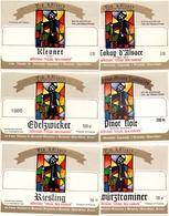 Etiket Etiquette - Vin - Wijn - D' Alsace - Relais Des Moines - Bennwihr - Serie 6 Pièces - Etiquettes