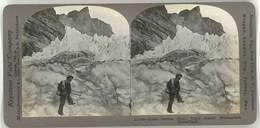 Photo Stéréoscopique - Glacier, Grinddenwald, Suisse, Guide - Photos Stéréoscopiques