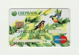 Sberbank RUSSIA Birds Maestro Expired 2007 - Cartes De Crédit (expiration Min. 10 Ans)
