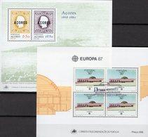 EUROPA-Marken 1980 Azoren Blocks 1+8 **/o 15€ Bloque CEPT Hb Architectur Blocs Ships S/s History Sheets Bf Portugal - 1980