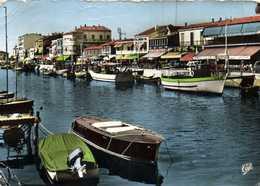 CPSM Grand Format PALAVAS LES FLOTS  Le Canal Bateaux Colorisée RV - France