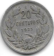 *chile 20 Centavos 1925  Km 167.1 Vf - Chili