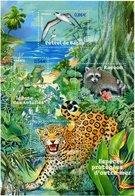Frankreich MiNr. 4243-46 = Block 76 - Geschützte Tiere Aus Übersee - Postfrisch - Raubkatzen