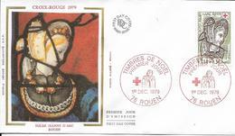 Env Fdc France N° 2070 Rouen,1/12/79, Croix Rouge, église Jeanne D'arc à Rouen, Hérodiade, Vitrail - FDC