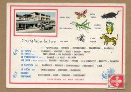 CPA - CASTELNAU-le-LEZ (34) -Carte D'illustrateur Avec Petite Photo Encartée Des Années 60 / 70 - Souligner Le Mot ... - Castelnau Le Lez