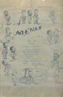 MILITARIA  Menu Trombinoscope Sous Officiers Sp3 A Cie 122 1916 2scans - Documents