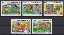 2447  -  Commonwealth DOMINICA - Disney  ( Christmas 1985 ) De Echte Rode Cameron . - Disney