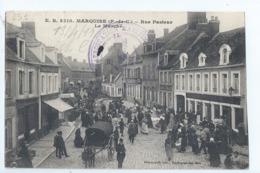 Cpa -62 -     - Marquise - Rue Pasteur - Le Marche -  -  19?? - Marquise