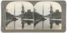 Photo Stéréoscopique - Pays Bas, Hollande, Moulin - Photos Stéréoscopiques