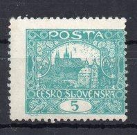 CZECHOSLOVAKIA  1918 , MNH , PERFORATION  11 3/4 - Tchécoslovaquie