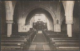 Interior Of Church, South Hayling, Hampshire, 1924 - Chapman & Son RP Postcard - England