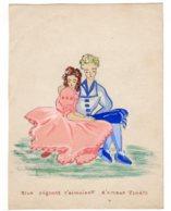 FANTAISIES - Illustrateurs Non Signés, Dessin Fantaisie Couple Idylle  Deux Pigeons......  Nov 2018 Img314) - Other Collections