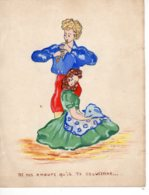 FANTAISIES - Illustrateurs Non Signés, Dessin Fantaisie Couple   Idylle  De Nos Amours   .....  Nov 2018 Img318) - Other Collections