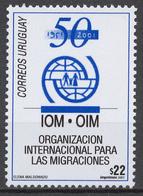 Uruguay 2001 Mi# 2605** INTERNATIONAL ORGANIZATION FOR MIGRATION, 50th ANNIV. - Uruguay