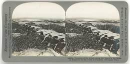 Photo Stéréoscopique - Côtes Des Flandres, Tranchées Alliés ( Guerre 14/18, Soldats ) - Photos Stéréoscopiques