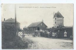 Cpa -62 -    -  Hersin-coupigny  -   - Passage A Niveau -   - 1914 - - Other Municipalities