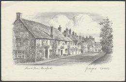 Lamb Inn, Burford, Oxfordshire, C.1960s - Judges Pencil Sketch Postcard - England