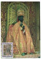 """JP355  Vaticano """"S. Pietro Mosaico Basilica S. Maria  Maggiore Con Annullo Anno Santo 1975 Su Cartolina Statua S.Pietro - Cristianesimo"""
