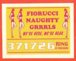 STICKERS FIORUCCI - DECALCOMANIE -FIGURINE FIORUCCI-MODA-AMORE-PUBBLICITARIE- SERIE BAD GIRL-PIN UPS -LOTTO 10 PEZZI - Stickers