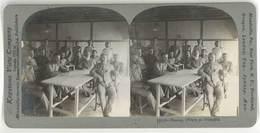 Photo Stéréoscopique - Russian Officers As Prisoners ( Officiers Russes Prisonniers De Guerre ) - Photos Stéréoscopiques