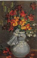 """AK 0088  Blumen Stilleben - Facsimile Ölgemälde , Marke """" Schlangenkönigin """" Um 1920 - Blumen"""