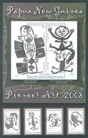 PAPUA NEW GUINEA -  MNH/*** LUXE - 2008 - ART - Yv 1219-1222 1223-1226 -  Lot 18256 - Papua-Neuguinea