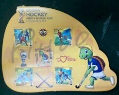 Field Hockey New Issue Stamps Mini Sheet Fromindia 2018 - Hockey (Veld)