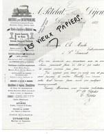 21 - Côte-d'or - DIJON - Facture PETOLAT - Matériels Pour Entrepreneurs - 1887 - REF 113A - France
