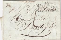 LETTRE . PUY-DE-DOME. 62/CLERMONT/PUY DE DOME POUR SAUXILLANGES. TAXE 2  / 2 - 1801-1848: Vorläufer XIX