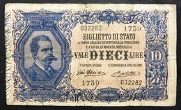 10 LIRE VITTORIO EM. III° Giu Dell'ara Righetti 1914 Rara LOTTO 442 - [ 1] …-1946 : Kingdom