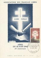 D35596 CARTE MAXIMUM CARD FD 1960 FRANCE - CROIX DE LORRAINE CROSS CP ORIGINAL - Coat Of Arms
