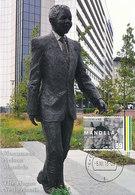 D35599 CARTE MAXIMUM CARD 2013 NETHERLANDS - POSTMARK DATE OF DEATH NELSON MANDELA STATUE NOBEL PRIZE PEACE CP ORIGINAL - Nobel Prize Laureates