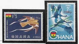 Ghana Poste Aérienne N°13/14 - Oiseaux - Neufs ** Sans Charnière - TB - Ghana (1957-...)