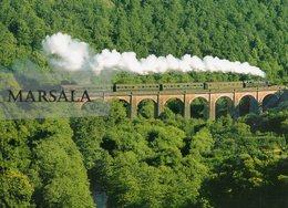 CPM   La 141 TD 740 Du  Chemin  De Fer Touristique Limousin Périgord Sur Le Viaduc De Bussy Varache - Other Municipalities