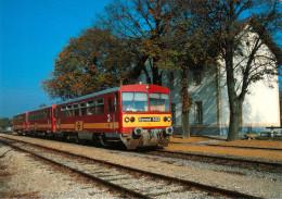AK Eisenbahn Burgenland Bahnhof Frauenkirchen Neusiedler Seebahn ROeEE GySEV Zug Raab-Oedenburg-Ebenfurther Bzmot 502 - Eisenbahnen